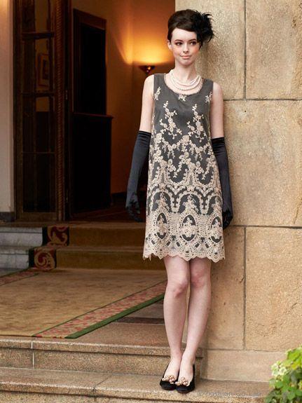 ラメ刺しゅうレースAラインワンピース(ドレス)|Dorry Doll(ドリードール)|ファッション通販 - ファッションウォーカー