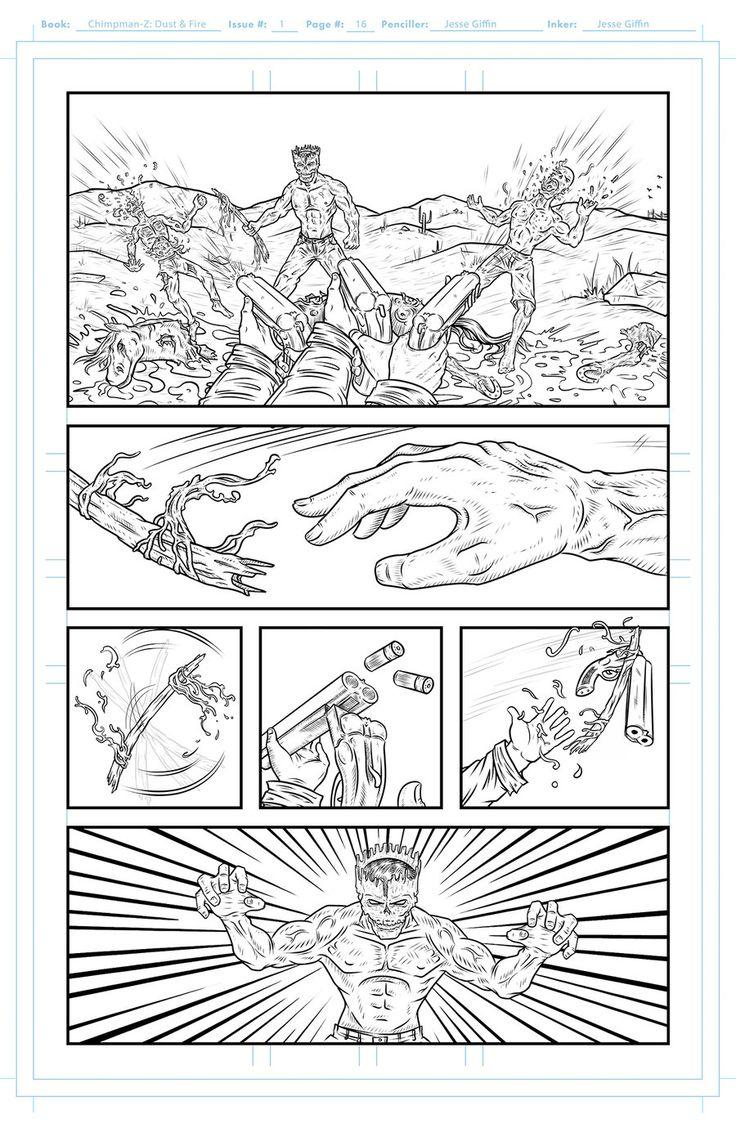 Chimpman-Z: Page 16 inks by JesseGiffin