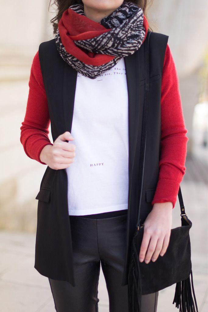 Cómo combinar un chaleco negro en tu look de primavera: MartaBarcelonaStyle's Blog