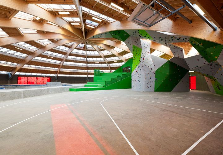 Streetdome and skatepark in Haderslev, Denmark. Cebra and Glifberg+Lykke Architects. Spotted by @missdesignsays Content Curator #allgoodthingsdanish