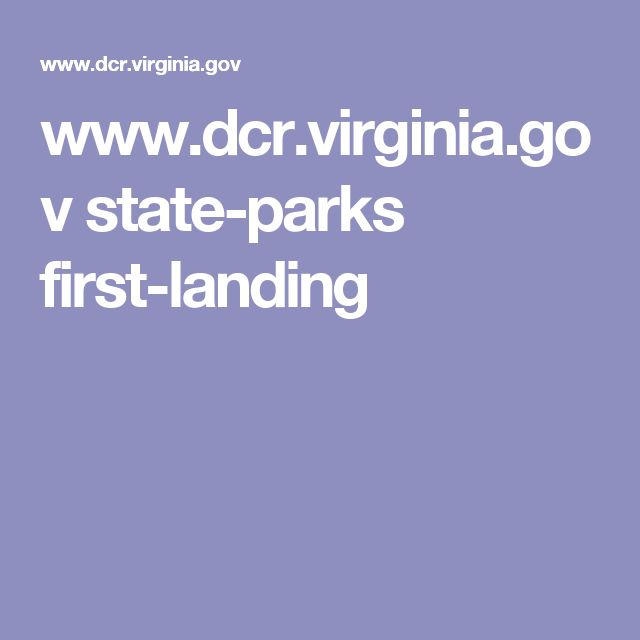 www.dcr.virginia.gov state-parks first-landing