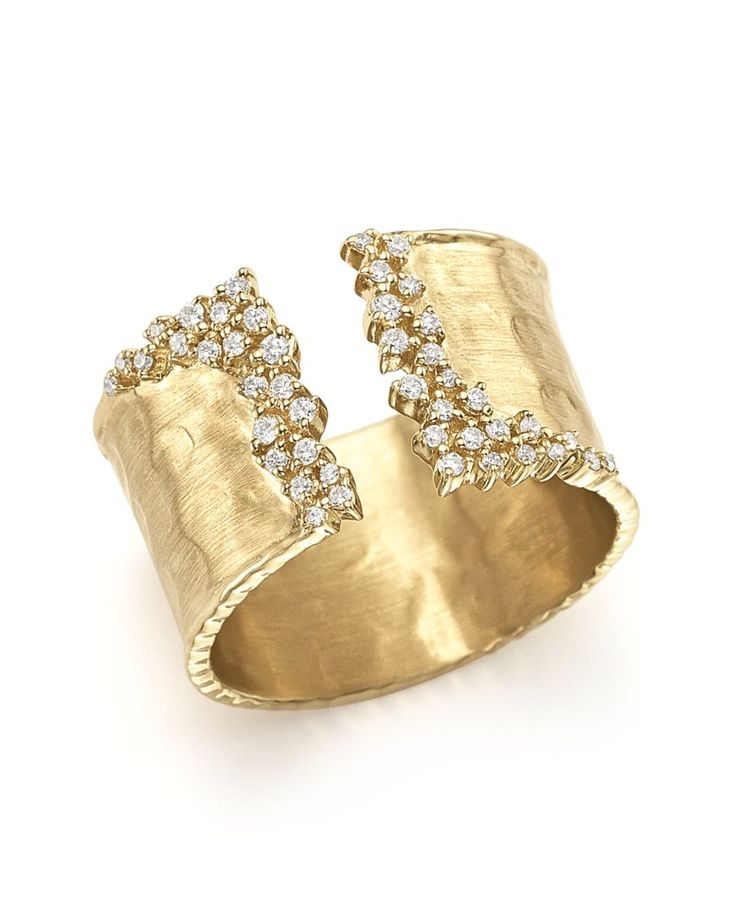 Diamond Cuff Ring in 14K Yellow Gold, 0.30 ct. t.w.