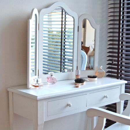 Mobile da Toalet Trucco [Madrid] Bianco, 3 Specchi, Nuovo | eBay