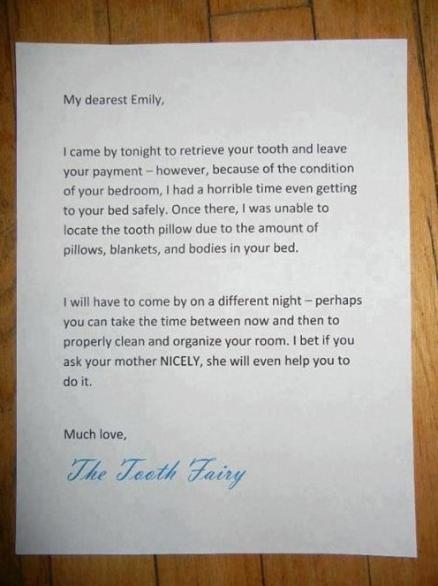 Funny tooth fairy letter ideas i 39 m so writing this the for Fairy letter ideas