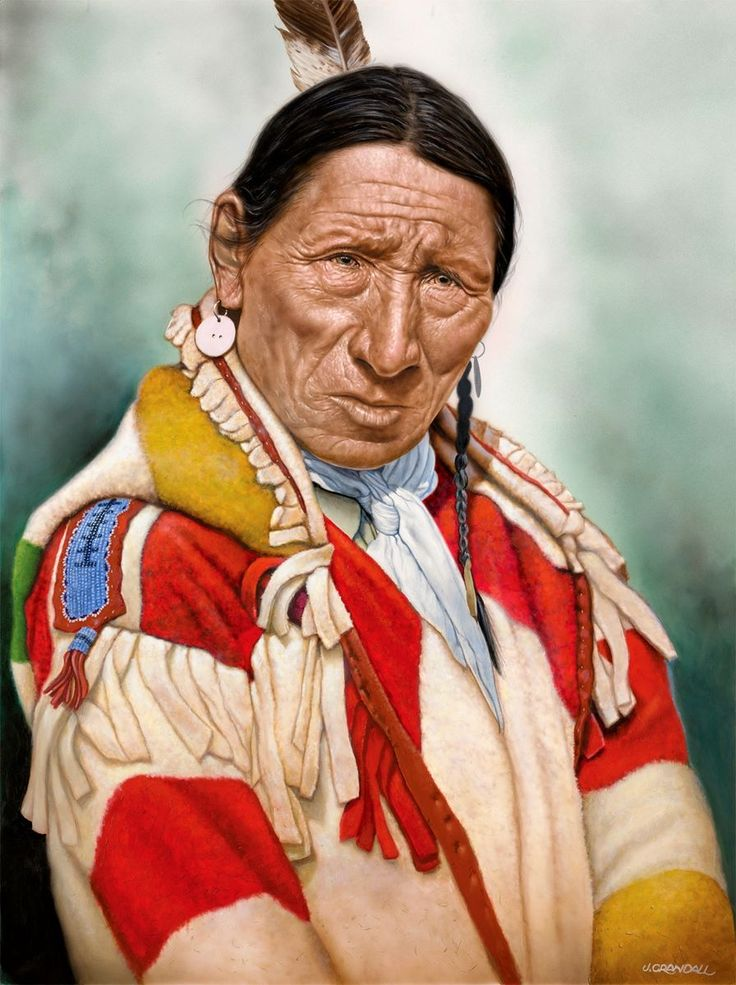 MANY ROBES - BLACKFOOT by Jerry Crandall