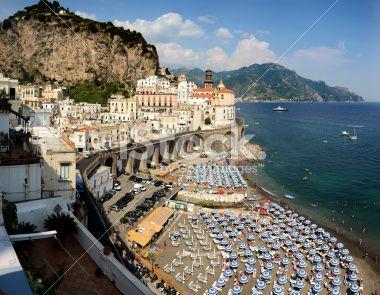 Atrani (SA) : beach Royalty Free Stock Photo