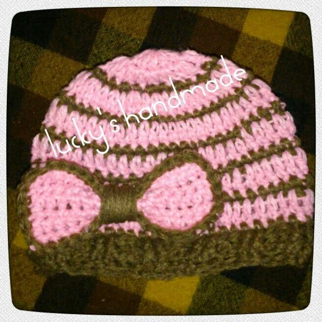 Baby girl hat #crochet PinkyBrown
