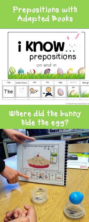 I know prepositions on and in. Practice these important concepts with this cute adapted book!
