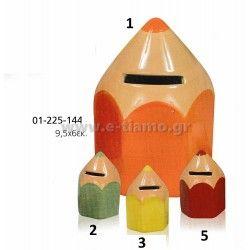 Διακοσμητικό Μπομπονιέρας Βάπτισης Μολύβι κεραμικός κουμπαράς  Διάσταση: 9,5Χ6cm