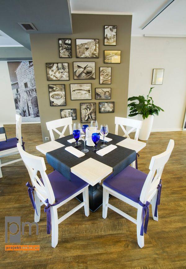Stolik i krzesła w restauracji , http://www.projektmebel.pl/meble-do-restauracji
