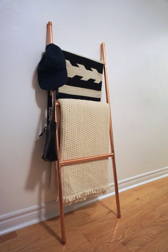 Copper Blanket Ladder / Retail Display | Etsy