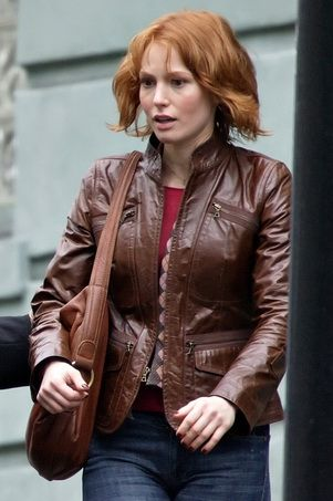 100% Leather Lining 100% Cotton, Sleeve Lining 100% Polyester. 2 Sipper Chest Pocet on both side, 2 waist zipper pocket and two flap pockets, path on elbow. - See more at: http://danileathers.com/product/alicia-witt-leather-jacket-88-minutes/#tab-description