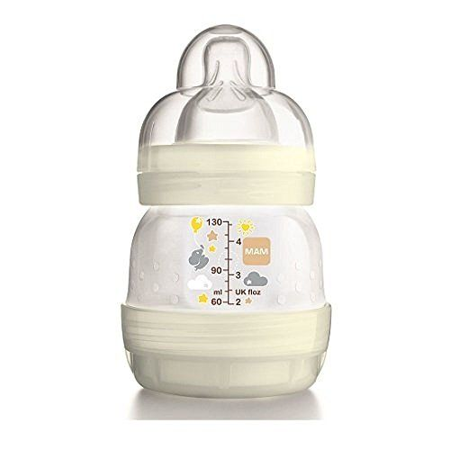 Mam Anti  Colic Feeding Bottle 45oz  130ml  White -- Details can be found by clicking on the image.