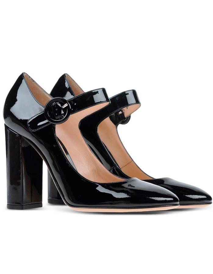 Escarpins noirs vernis Gianvito Rossi - Chics et efficaces, les escarpins noirs ont tout bon - Elle