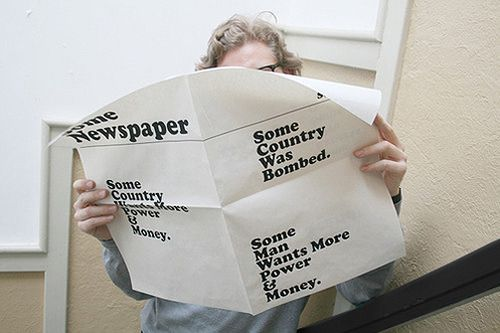 newspaper type typography design print layout grid cliches