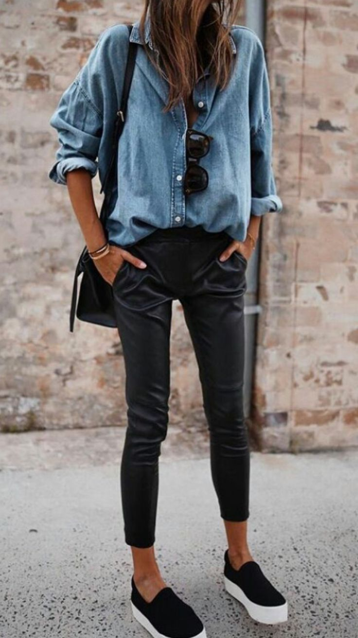 How to wear a denim shirt - Casual, classy style.