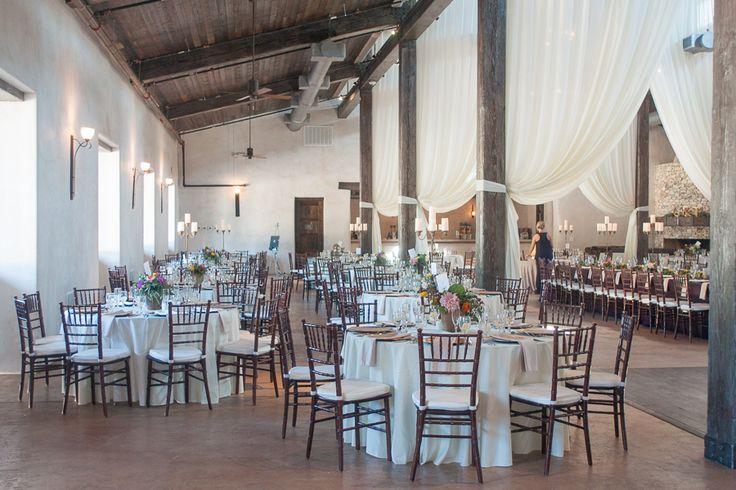 Wedding Reception Hall at Lost Mission Wedding Venue Decorated