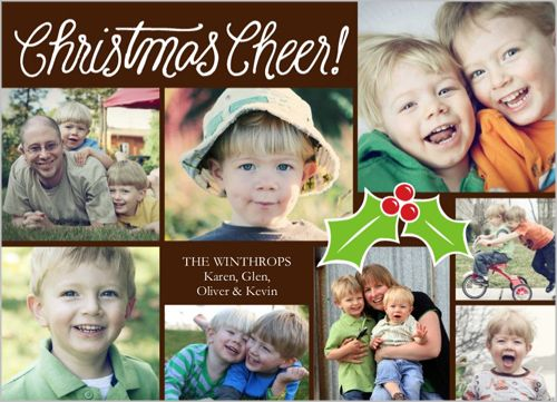 Cheer And Holly 5x7 Photo Card by Shutterfly   Shutterfly.com