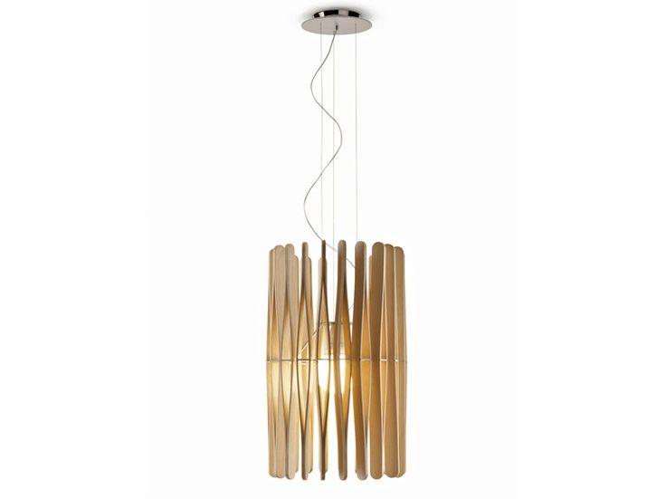 Lámpara colgante de madera STICK | Lámpara colgante - Fabbian: Lámpara colgante de madera