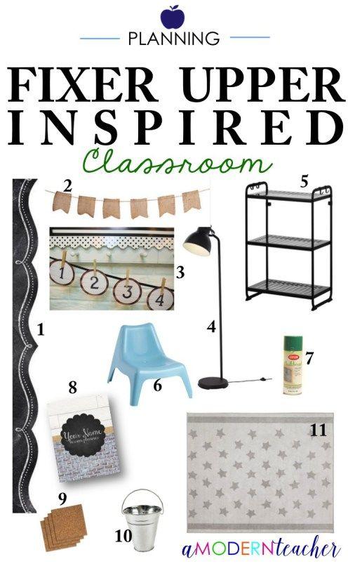 Classroom Planning: Fixer Upper Inspired Design!