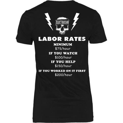 Electrician Labor Rates Tee-Back