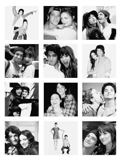 Tyler Posey and Crystal Reed :) hope they're   a real life couple.