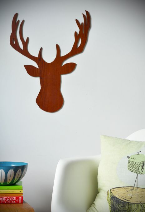 How to: Make a Cruelty-Free Wooden Deer Head w/video stap by stap