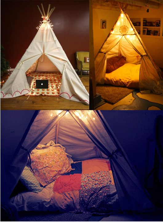 1000 images about living room teepee on pinterest for How to make a fort in the living room