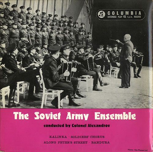 "The Soviet Army Ensemble The Soviet Army Ensemble EP 1959 UK 7"" vinyl SEL1605: THE SOVIET ARMY ENSEMBLE conducted by BORIS ALEXANDROV The…"
