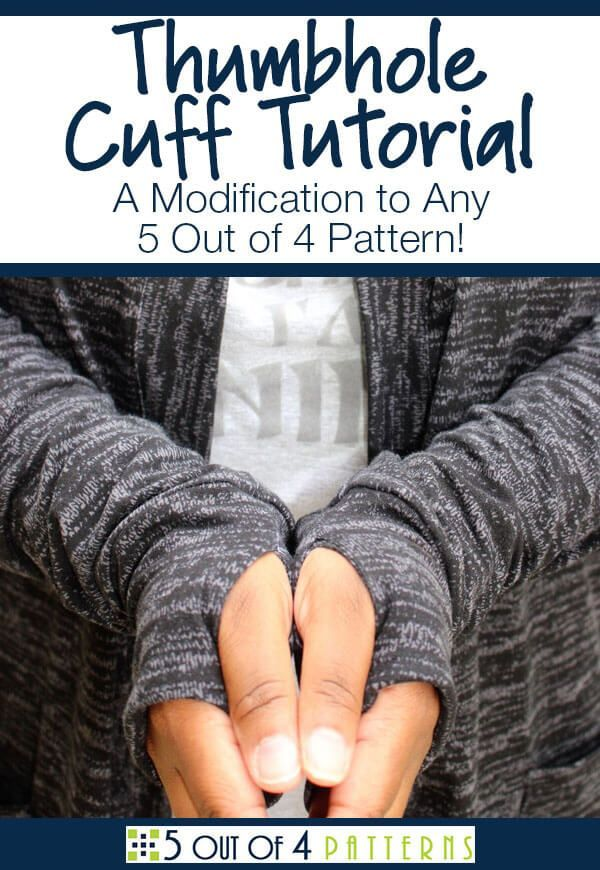 bd1dc56687 Learn how to make a thumbhole cuff on any 5 Out of 4 Pattern. This ...
