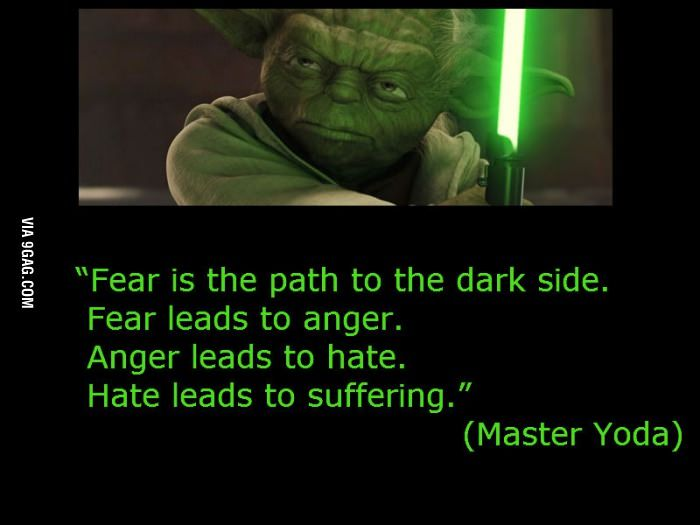 Master Yoda about fear | love this | Yoda quotes, Quotes ...
