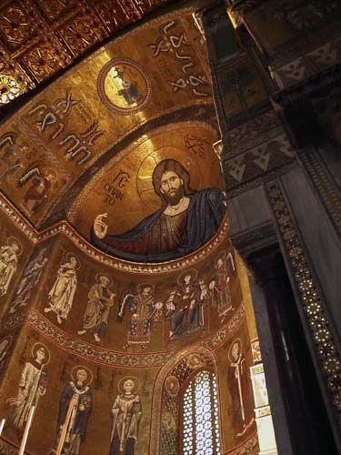 Monreale, Sicily, Italy - beautiful mosaic