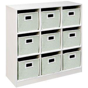 9 cubby storage unit, white