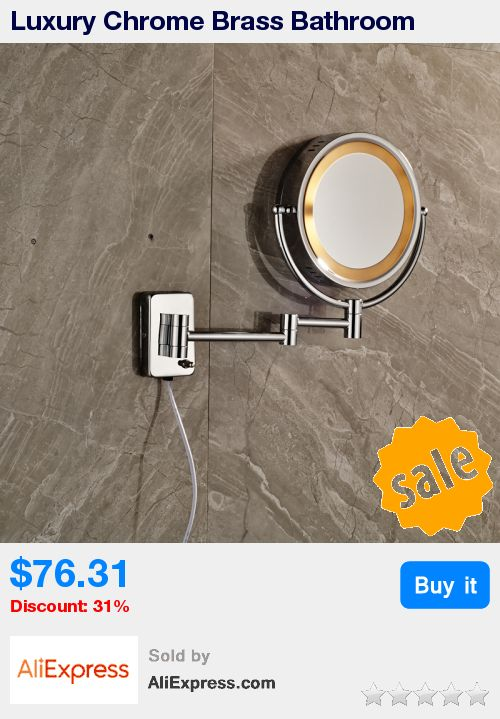 Luxury Chrome Brass Bathroom Cosmetic Mirror Magnifier Decorative Wall Mirrors with Light * Pub Date: 11:22 Apr 10 2017