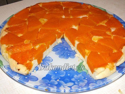пирог перевертыш с тыквой