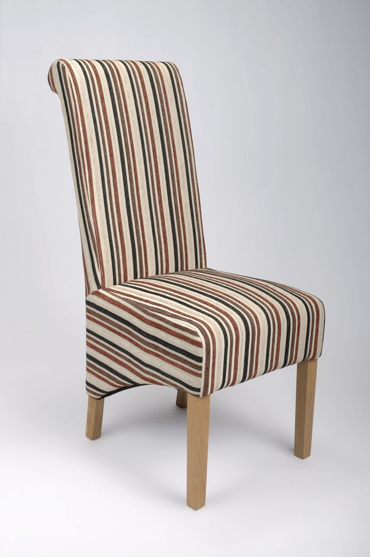 Eton Brown Stripe Dining Chair Striped Dining Chairs