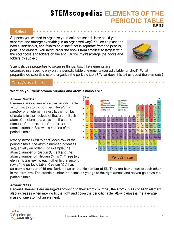 8P 86 Elements of the Periodic Table Linking Literacy - new periodic table atomic mass protons