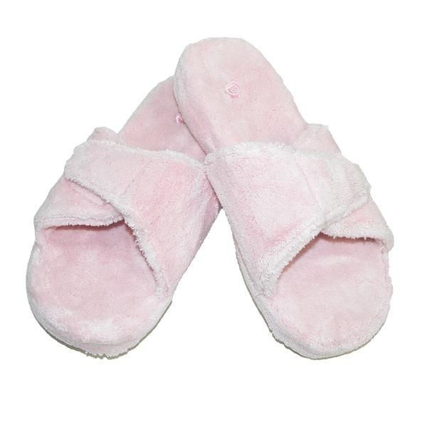 Acorn slippers feature quality and comfort for all seasons. The soft terry slippers wrap your foot in spa luxury. The contoured footbed provides comfort and support with every step. These slippers are machine washable and dry.