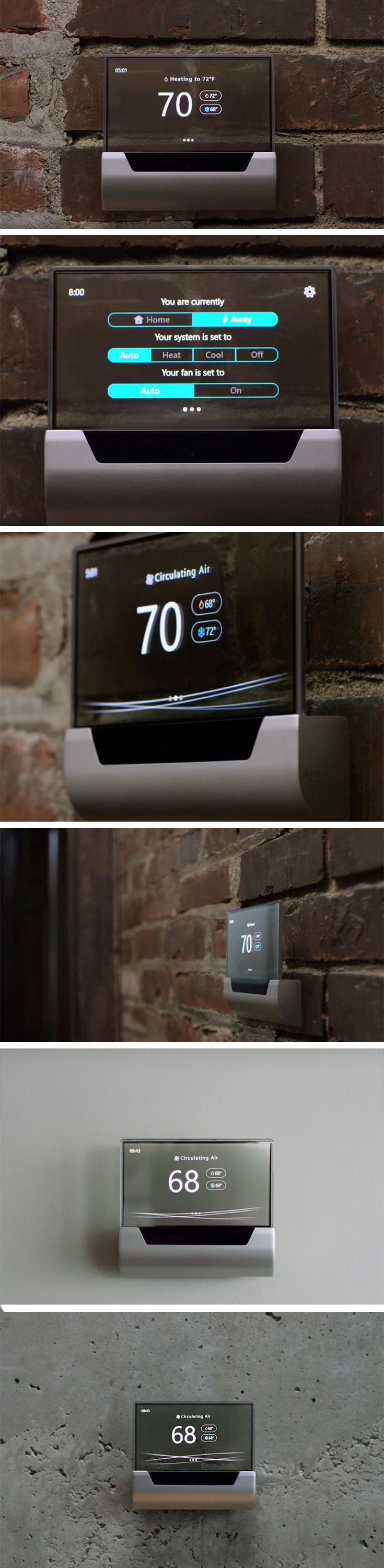 The GLAS by Microsoft and Johnson Controls redefines what home appliances must look like, along with what they're capable of. Made to look as pretty as a picture, the GLAS features a translucent touch-screen display that delights the heart with the way it showcases your wall behind it.