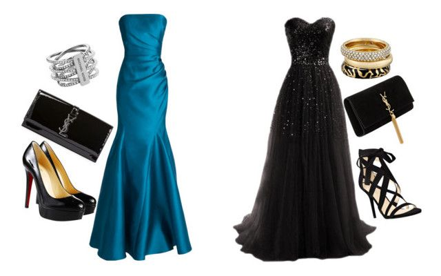 """""""Red carpet"""" by andrea-levander on Polyvore featuring Badgley Mischka, Yves Saint Laurent, Nine West, Christian Louboutin and Michael Kors"""