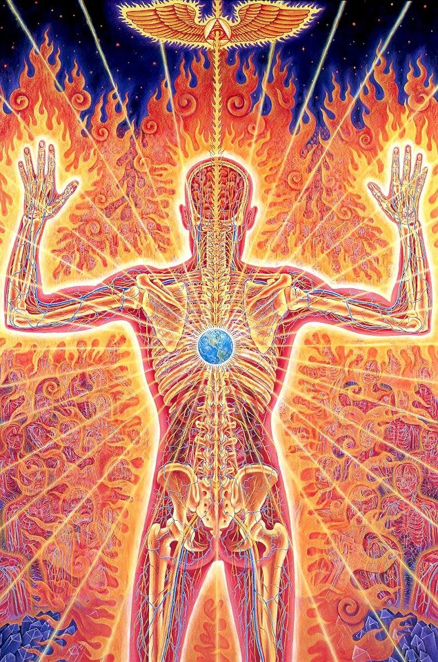 """Everything in the universe is within you. Ask all from yourself."" Mawlānā Jalālad-Dīn Rumi ART by Alex Grey"