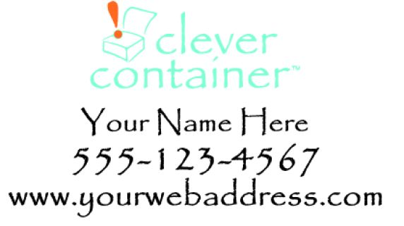 """Clever Container Decal 12x24""""  Black part of decal is cut in white.  For custom orders email us at melissa@imagineitvinyl.ca"""