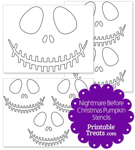 Printable Nightmare Before Christmas Pumpkin Stencils from PrintableTreats.com