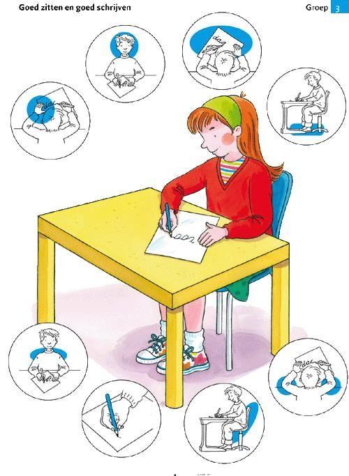 Schrijfhouding: de juiste schrijfhouding