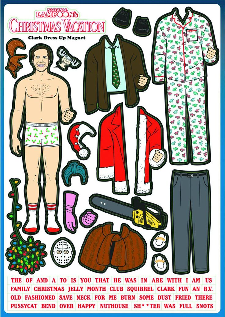 National Lampoon's Christmas Vacation Clark Griswold Dress-Up Magnet