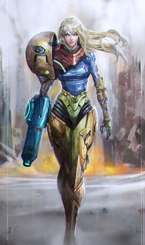 Samus Battle DamagedCreated by Leon Jo (Longai)/Find this Artist on DeviantArt - Website
