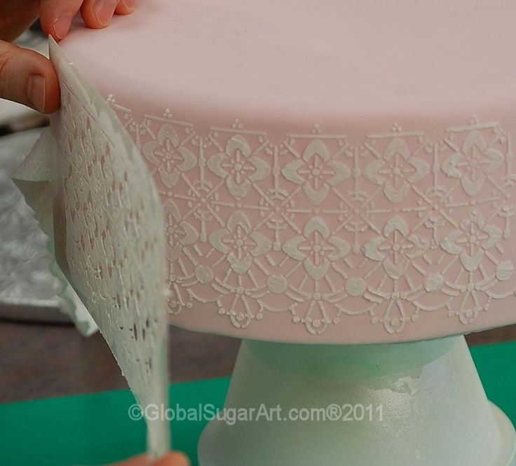 50 Best Images About Cake Stencil Tutorials On Pinterest