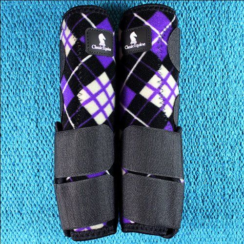 Small Purple Plaid Legacy System Horse Front Leg Sport Boot By Classic Equine CLASSIC EQUINE,http://www.amazon.com/dp/B00GT31FME/ref=cm_sw_r_pi_dp_wKdAtb0J45ZN0HRG