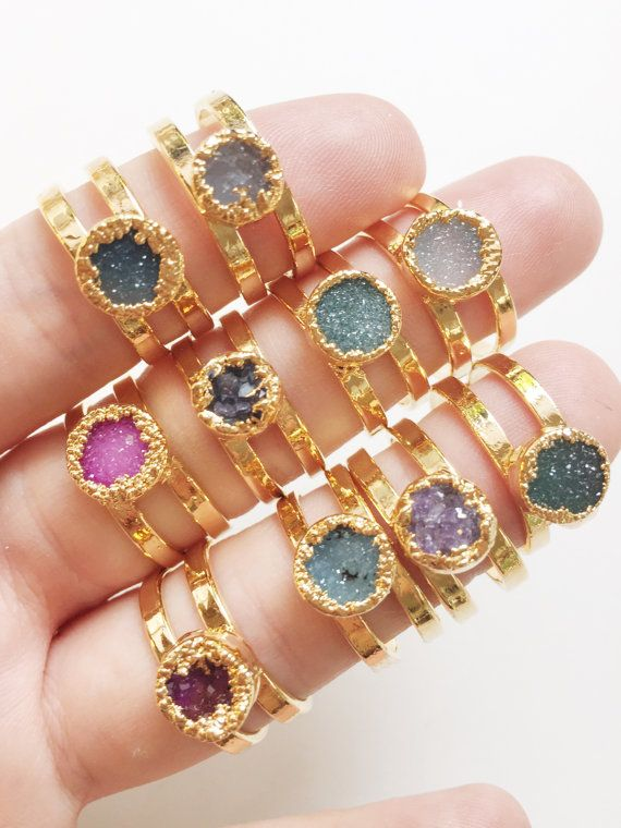 Hey, I found this really awesome Etsy listing at https://www.etsy.com/ca/listing/255567357/leinani-ring-gold-druzy-ring-gold-ring