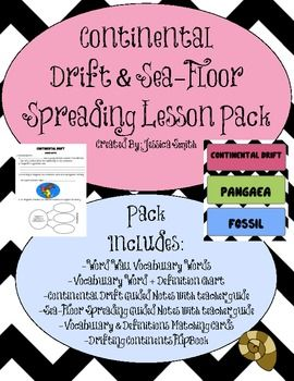 Worksheets Seafloor Spreading Worksheet 25 best ideas about seafloor spreading on pinterest plate continental drift sea floor lesson pack